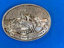 Vintage 1992 Pro Rodeo hall of fame belt buckle by Award Design Medals
