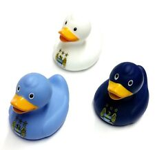 Manchester City Bath Ducks Set of 3 Official Retro Football Gifts