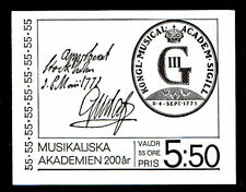 Music, Musicians Swedish Stamp Booklets