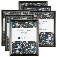 Picture Frame Set 8.5 x 11 In. Document Diploma Photograph Set of 6 Wall Hang