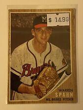 🔥 1962 TOPPS Baseball Card Set #100 🔥 Milwaukee Braves 🔥 HOF WARREN SPAHN