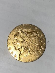 1911 $5 Indian Head Gold Half Eagle ~ Type Coin
