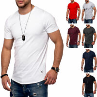 Jack & Jones Herren O-Neck T-Shirt INFINITY Oversize Longshirt Basic Casual Top