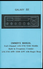 Copy* Galaxy DX 88 HL AM FM SSB 10 Meter Ham Radio Roger Beep Owner's Manual