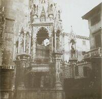 Italia Monumento Religion c1910 Foto Stereo Placca Da Lente VR12he