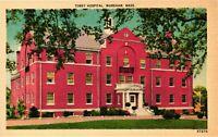 Vintage Postcard - Linen - Tobey Hospital Wareham Massachusetts MA #1873