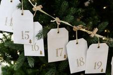 Weihnachten*Adventskalender*Geschenktüten*Kette*Set*24tlg*zum befüllen*weiß gold