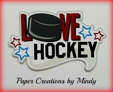 Craftecafe Mindy Sports Hockey boy girl  Title  premade paper piecing scrapbook