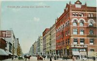 Divided back postcard 1907-1915 Downtown Spokane, Wash. Printed in Germany