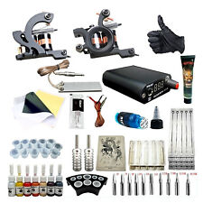 Complet Tattoo Kit de Tatouage Machine à Tatouer 7 Ink Power Supply Set