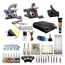 Complete Tattoo Kit Professional  2 Machine 7 Ink Tattoo Needle Foot Pedal Set