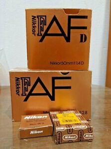 Empty box Nikon Lens MR-3 eyecup empty box  set of 4 rare