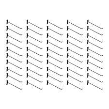 50 Pc 12 Gloss Black Long Grid Wall Metal Hooks Display Gridwall Panelso