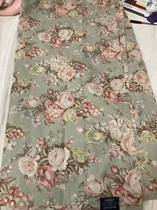 Classic Ralph Lauren Charlotte Floral Green Cottage Rose Shower Curtain 70 x 72