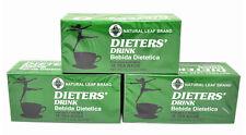"""3 Cajas De Dieta """"Copa Bebida Dietetica Natural Hoja Marca Dieta 54 bolsa de té"""