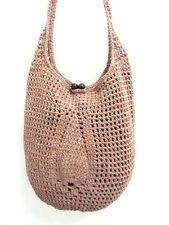NF 06 HANDICRAFT CROCHET KNIT SHOULDER BAG M HOBO HANDMADE CROSSBODY SLING WEAVE