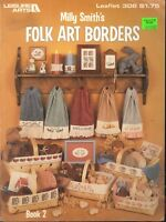 Folk Art Borders Cross Stitch Leaflet Milly Smith 1984 Leisure Arts 308 Rooster