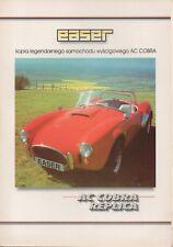 Easer AC Cobra Replica (made in Poland) _1997 Prospekt / Brochure