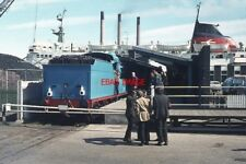 PHOTO  1973 LARNE HARBOUR RAILWAY STATION - 1973 PRESERVED FORMER GNR(I) S-CLASS