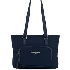 Karl Lagerfeld Paris Cara Nylon Mini Tote Bag Handbag Midnight Blue