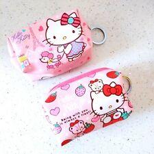 2pcs Cute Hello kitty Women Girls Change Purse Wallet Coin Bag Lipstick Bag Gift