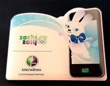 2014 Sochi Olympic Mascot ZAIKA  WHITE RABBIT * DORE HAIR * Sponsor large pin