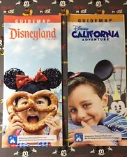 """January 2018 DISNEYLAND AND DCA BOTH PARKS!! """"GET MORE HAPPY"""" Guide Maps"""