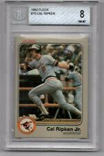 1983 Fleer Cal Ripken Jr. #70 BVG 8 NM-MT