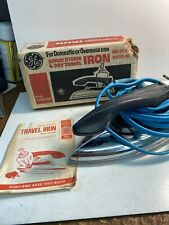 Vintage Ge Travel Iron F49 With Paperwork General Electric No Water Container