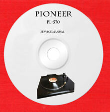 Pioneer PL-570 Repair Service manual on 1 cd in pdf format