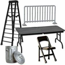 """6/"""" Noir échelle noir table 2 chaises noires-Wrestling Figure Accessoires WWE"""