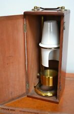 Very Rare Adjustable Microscope Oil Lamp By James Swift Complete With Box Brass