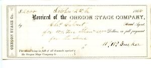 1866  Oregon Stage Company.    Payment for Straw.