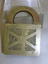 "Vintage S B & Co. Brass Bronze Padlock ONLY 1894 1 1/2"" X 1/2"" X 1 5/16"" No Key"