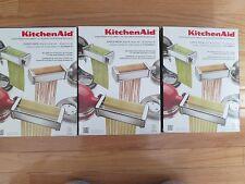 NEW KitchenAid 3-Piece Pasta Roller & Cutter Set KPRA Stand Mixer Attachment