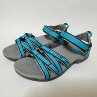 Teva Womens 7.5 Tirra Sport Sandals Blue Adjustable Strap Walking Hiking Water