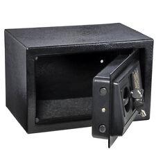 Small Digital Steel Safe Electronic Locking Money Strongbox Cash Box Keys Black