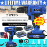 21-Volt drill 2 Speed Electric Cordless Drill / Driver With Bits Set + Batteries