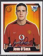Merlin Football Sticker - 2003 Premier League No 367 - Man Utd - John O'Shea