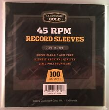 200 CBG 45 RPM Record Poly Sleeves 7 3/8 X 7 5/8 - Acid Free - Archival Safe
