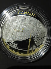 (2011) $25 Fine Silver Proof Coin - Toronto City Map First 2oz canadian coin