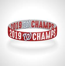 Reversible 2019 World Series Champions Washington Nationals Bracelet Wristband