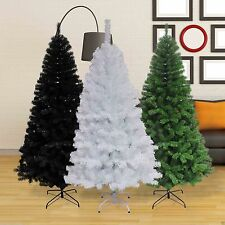 ARTIFICIAL CHRISTMAS TREES WHITE 700 tips 180CM TALL 6FT TALL WHITE,BLACK,GREEN
