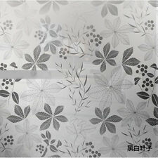 45x100cm Frosted Glass Window Sexfoil Floral Flower Sticker Film Adhesive Decor