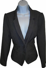 USED Ladies Evie Collection Grey Smart Blazer Size 16 (R.J)