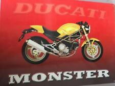 DUCATI MONSTER YELLOW BIKE RED ADVERT METAL PICTURE SIGN 30x40cm RETRO WALL ART