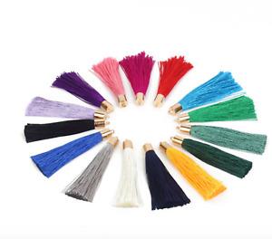 Silk cotton Tassels, tassels for jewellery making, tassel pendents, PK 5