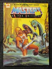 1984 MASTERS OF THE UNIVERSE Activity Book FVF 7.0 Golden Book / Mattel Inc