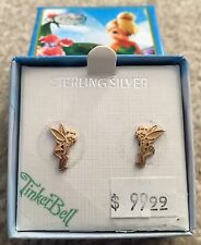 Sterling Silver/Yellow Plated TinkerBell Stud Earring Set