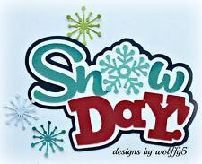 CRAFTECAFE SNOW KID TITLE paper piecing premade scrapbook page die cut WOLFFEY5